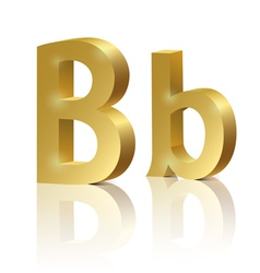 Golden letter B vector