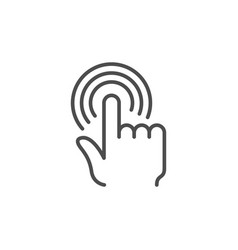 hand touch or tap line icon vector image