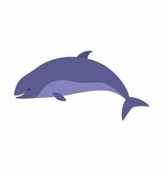 happy harbor porpoise cartoon vector image