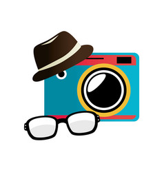 Hipster style accesories icon vector