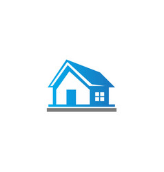 home realty building company logo vector image