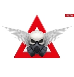 Human skull with Respirator mask vector image