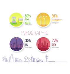 Infographic poster dealing environmental problems vector