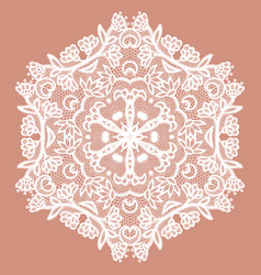 lacy round napkin vector image