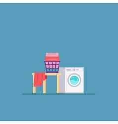 Laundry Room with Washing Machine and Dryer Flat vector image