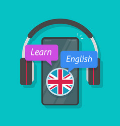 learn english or foreign language online on mobile vector image
