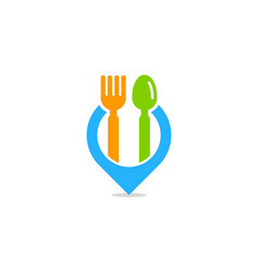 locate food logo icon design vector image