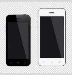 mobile smartphone big and small display screen vector image