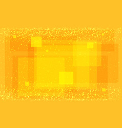 modern orange background with squares vector image