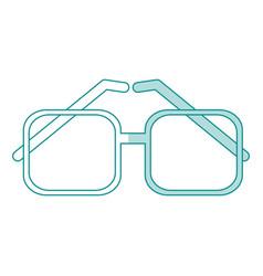 Monocromatic glasses design vector