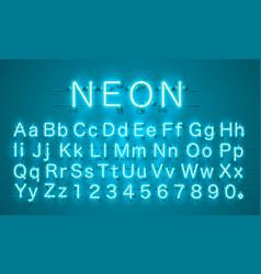 neon city color lime blue font english alphabet vector image