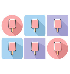 outlined icon of ice cream with parallel and not vector image