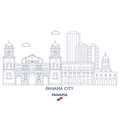 Panama city skyline vector