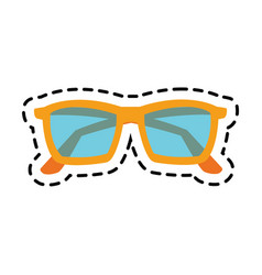 Pastel blue sunglasses icon image vector