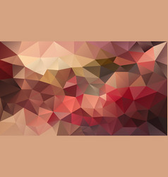Polygonal background red brown pink vector