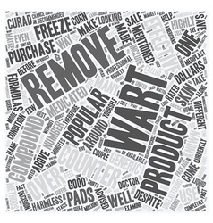 Popular Over the Counter Wart Removers text vector