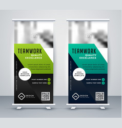 professional cosporate business rollup banner vector image