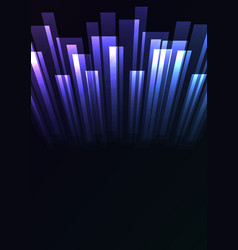 purple blue overlap stripe rush in dark background vector image