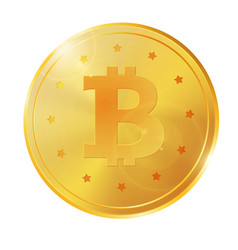realistic 3d golden bitcoin coin for fintech net vector image