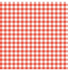Red checkered tablecloths patterns vector image