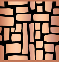 Rose gold foil rectangle shapes seamless pattern vector