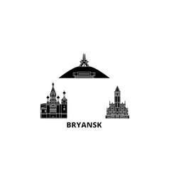 russia bryansk flat travel skyline set russia vector image
