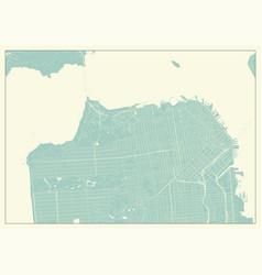 San francisco usa map in retro style vector