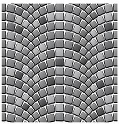 Seamless cobblestone pavement pattern vector