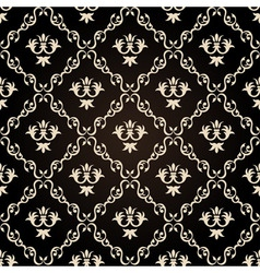 seamless vintage wallpaper background floral black vector image