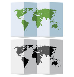 set abstract world map vector image