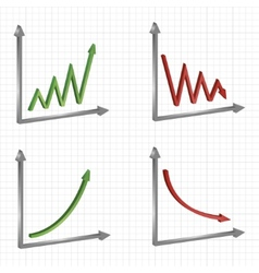 set of different business graphs and charts vector image