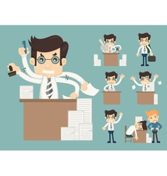 Set of office worker eps10 format vector image