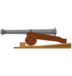 Ship cannon isolated on white background vector