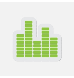 simple green icon - equalizer symbol vector image