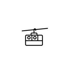 ski lift icon vector image
