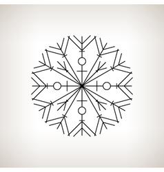 Snowflake Happy New Year vector image
