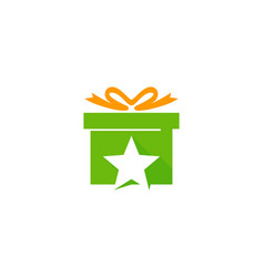 star gift logo icon design vector image