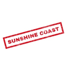 Sunshine coast rubber stamp vector