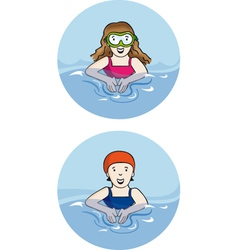 swimmer vector image
