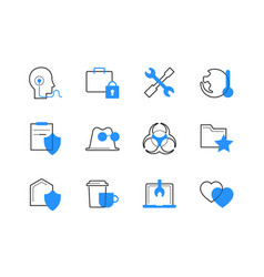 Technology and legal services color icons set vector