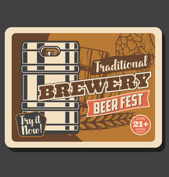 traditional brewery craft beer fest vector image