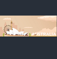 travel banner to australia flat vector image