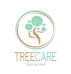 Tree care logotype Stock vector