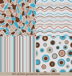 Trendy Colorful Seamless Patternscollection vector image