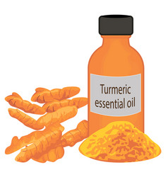 Turmeric essential oil vector