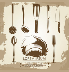 Vintage elements for cafe or restaurant labels vector