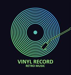 Vinyl logo vector