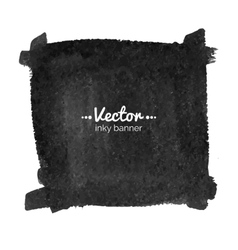 Watercolor black banner vector image