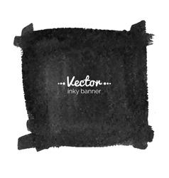 Watercolor black banner vector image vector image