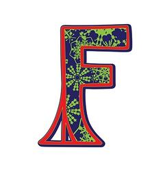 Winter letter F vector